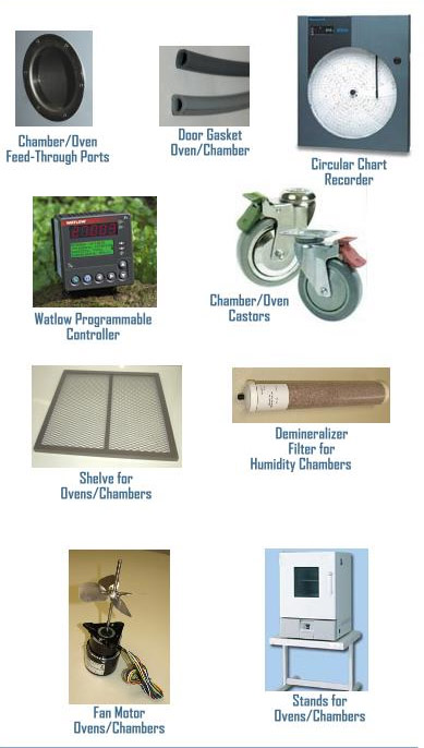 Parts and accessories for environmental test chambers