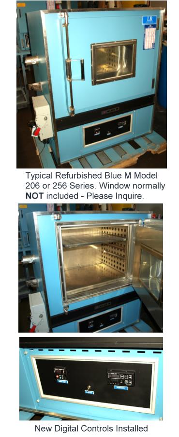Used BLUE M 206 SIZE Ovens/ Industrial Ovens/ Cleanroom Ovens/ Inert Gas Ovens