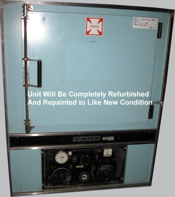 Used BLUE M POM-253B-1 Industrial Ovens/ Batch Ovens/ Curing Ovens/ Heat Treat Ovens/ Powder Coating Ovens