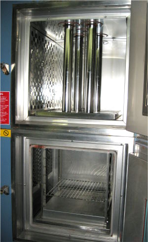 Used BLUE M WSP-109C-MP3 CO2 LN2 Chambers, Thermal Shock Chambers, Cryogenic Chambers